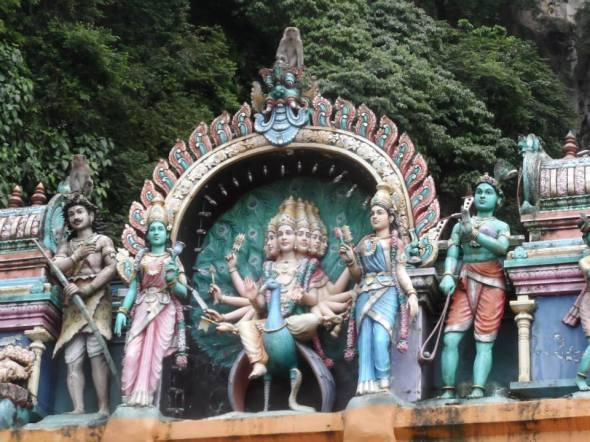 Batu caves tourist attraction in Kuala Lumpur, Malaysia